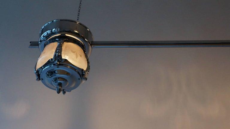 Two-Light Rare Art Deco Flush Mount For Sale 2