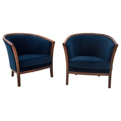 Two Louis Phillipe Bergère Armchairs, Northern Europe, circa 1900, Renovated