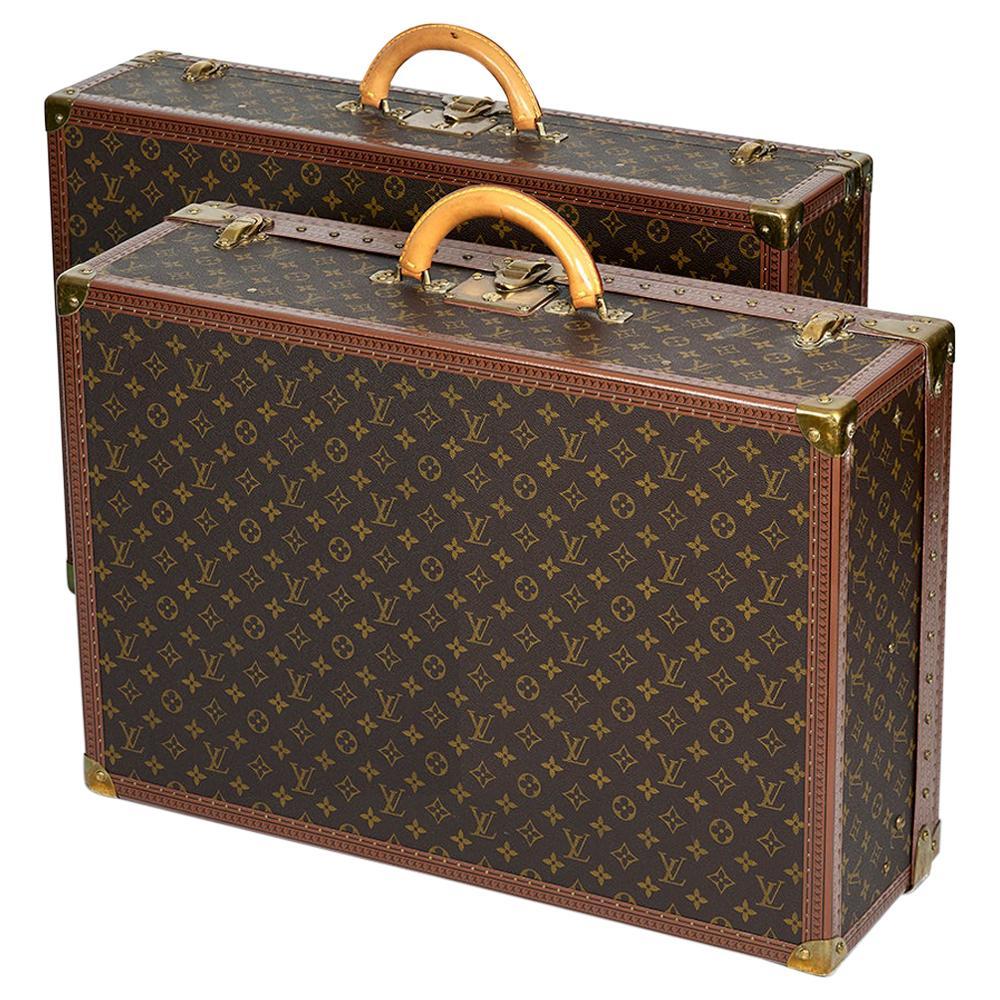 Two Louis Vuitton Alzer Monogram Luggage Bags