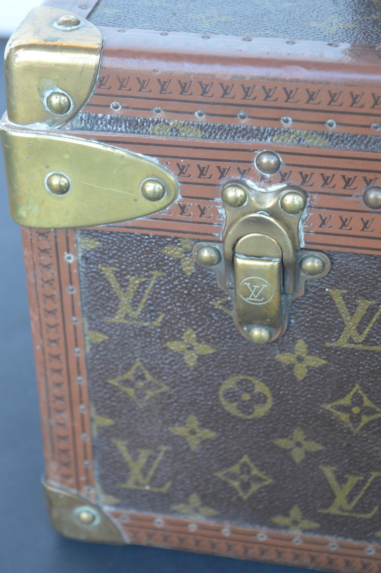 Leather Two Louis Vuitton Trunks For Sale