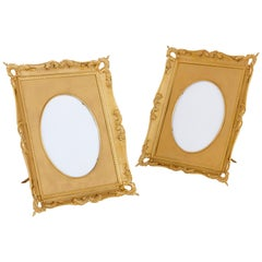 Two Louis XV Style Gilt Bronze Photo Frames