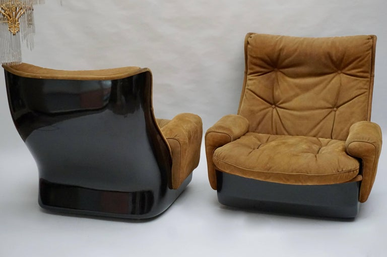20th Century Two Lounge Chairs by Airborne International, circa 1970s For Sale