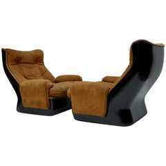 Two Lounge Chairs by Airborne International, circa 1970s