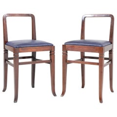 Two Mahogany Art Deco Shop Chairs by Royal H.P. Mutters & Zoon, 1920s