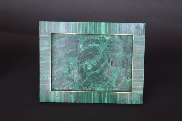 Two Malachite Picture Frames In Excellent Condition For Sale In Los Angeles, CA