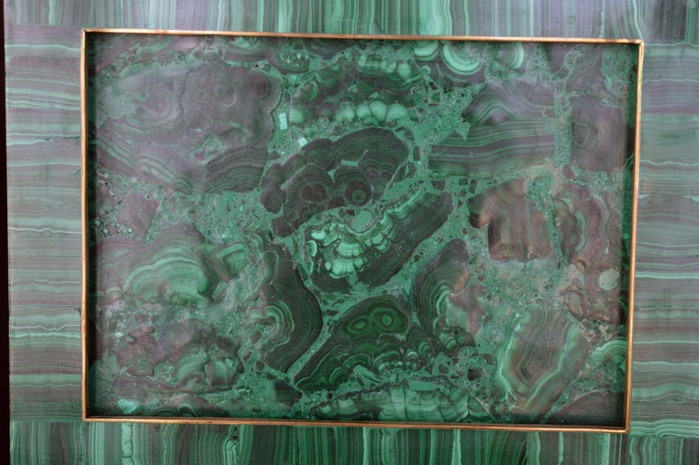 20th Century Two Malachite Picture Frames For Sale