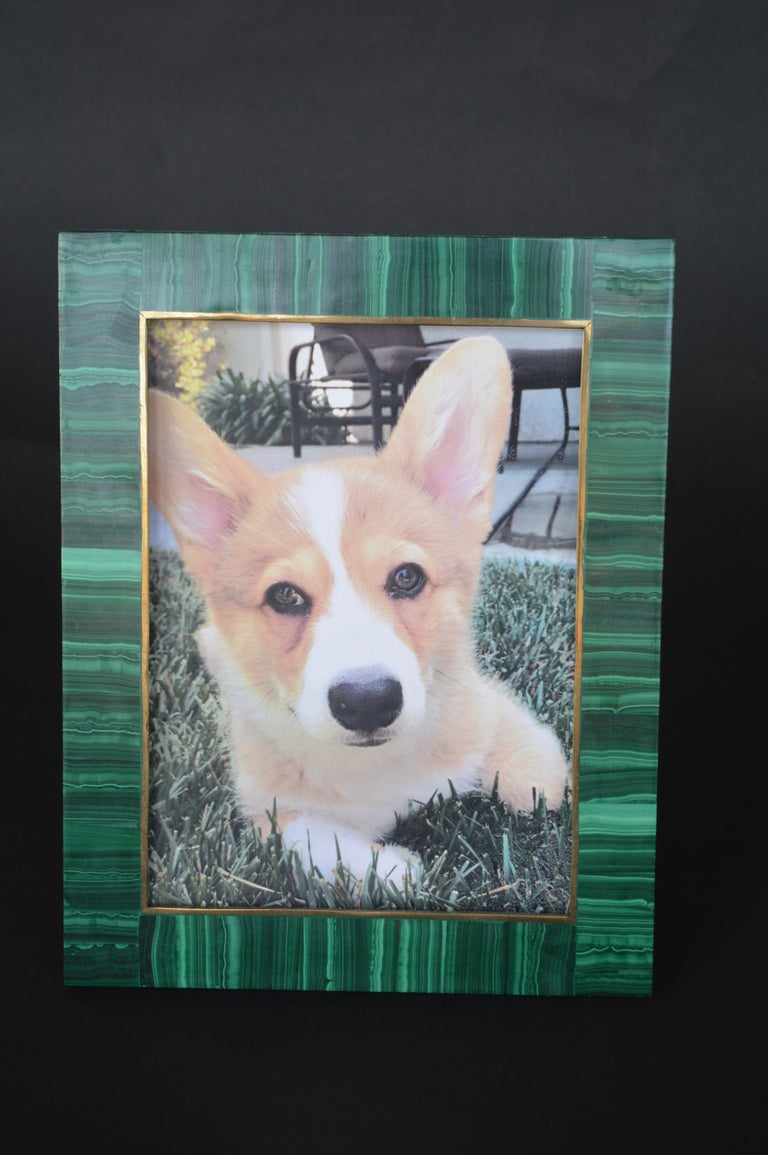 Two Malachite Picture Frames For Sale 2