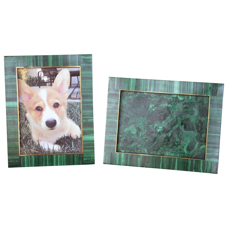 Two Malachite Picture Frames For Sale