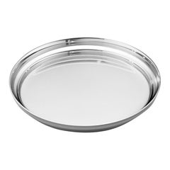 Two Manhattan Wineglass Coasters in Stainless Steel by Georg Jensen
