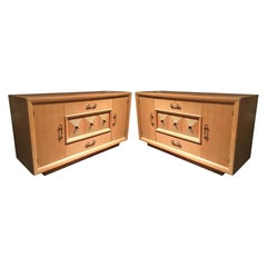 Two Matching French Art Deco Credenzas or Sideboards Attributed to Maxime Old