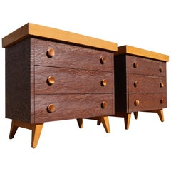 Two Matching Rare Paul Frankl Dressers or Nightstands