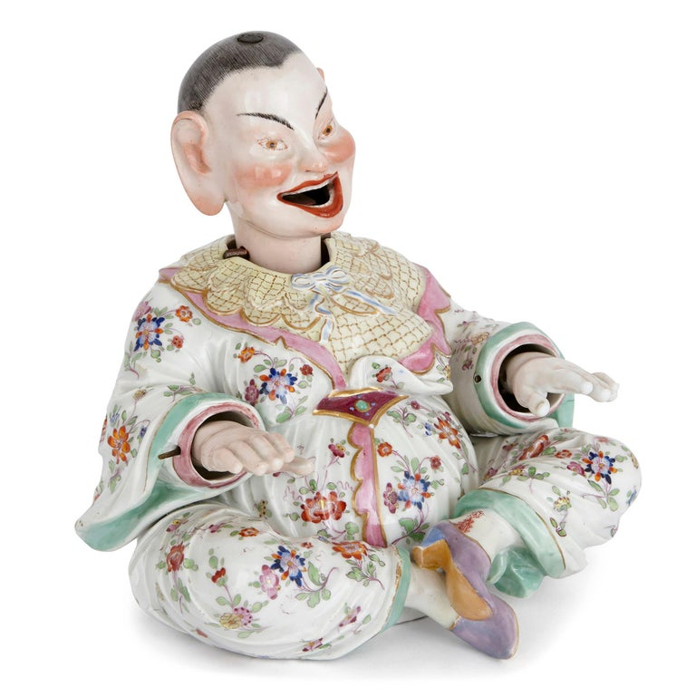 German Two Meissen Porcelain Chinese Nodding Pagode Figures For Sale