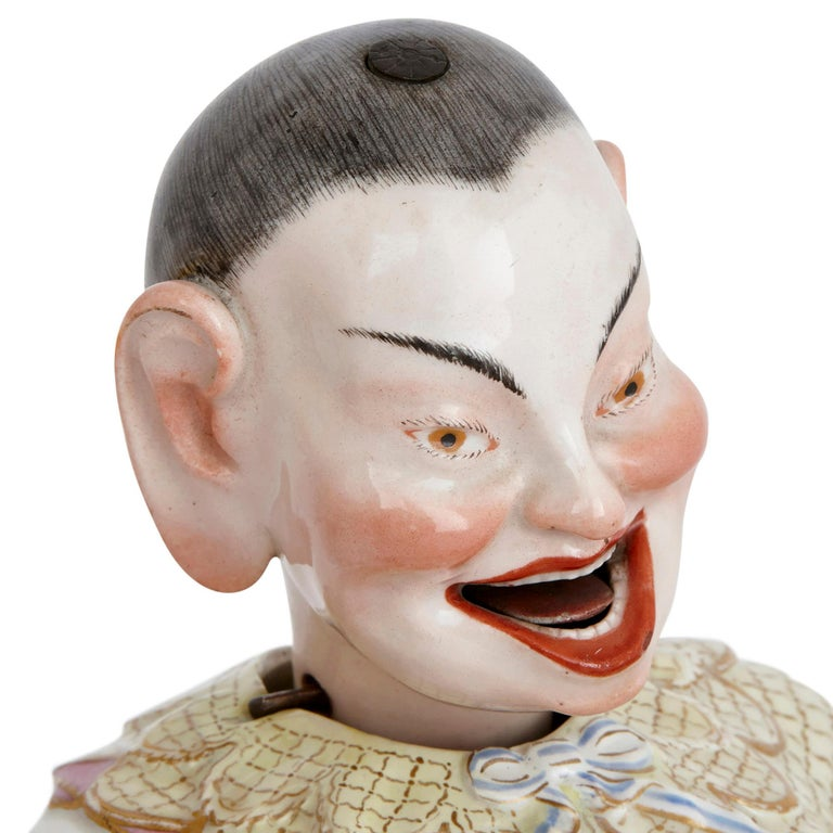 Two Meissen Porcelain Chinese Nodding Pagode Figures In Good Condition For Sale In London, GB