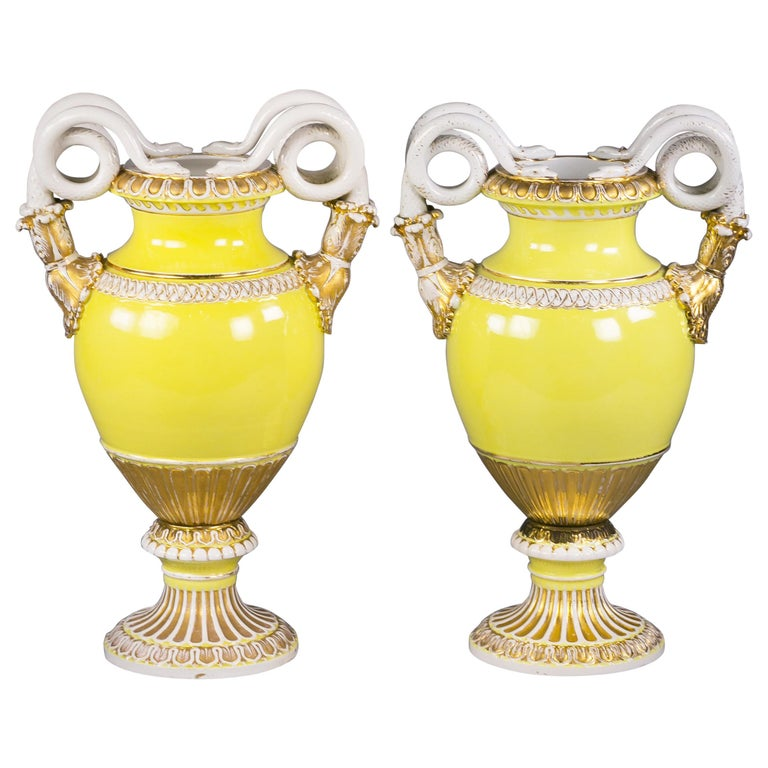 Two Meissen Porcelain Two Handled Vases, circa 1890 For Sale