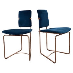 Two Mid-Century Modern Copper Frame Elegant Limited Chairs Jodie by Peter Ghyczy