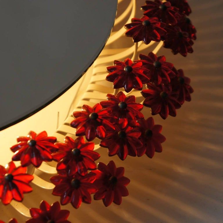 Two Mid-Century Modern Round Mirror by Emil Stejnar for Rupert Nikoll, Austria In Good Condition For Sale In Antwerp, BE