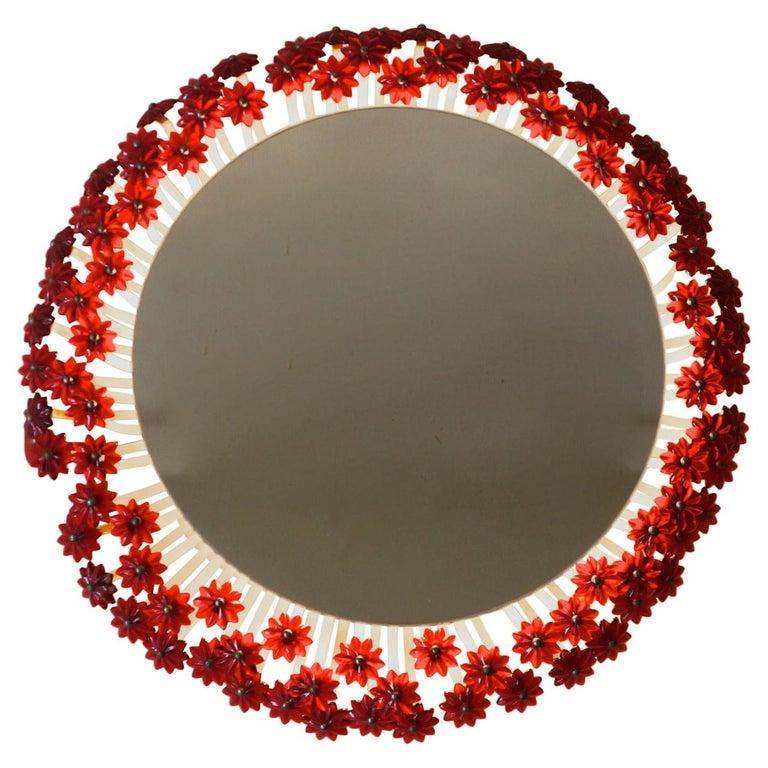 Two Mid-Century Modern Round Mirror by Emil Stejnar for Rupert Nikoll, Austria For Sale