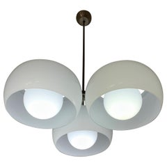 """Two Mid-Century Modern """"TriClinio"""" Chandelier by Vico Magistretti for Artemide"""