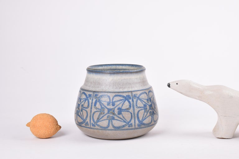 Two Midcentury Vases by Marianne Starck for MA&S Blue and Gray Danish Ceramic For Sale 5