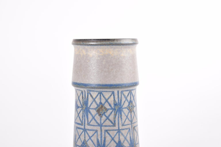 Mid-20th Century Two Midcentury Vases by Marianne Starck for MA&S Blue and Gray Danish Ceramic For Sale