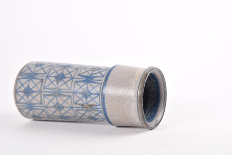 Two Midcentury Vases by Marianne Starck for MA&S Blue and Gray Danish Ceramic For Sale 2