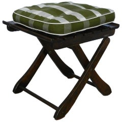 Two Midcentury French Adjustable Stool or Folding Side Table by Clairitex