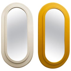 Two Midcentury Oval Mirrors, USA, circa 1960