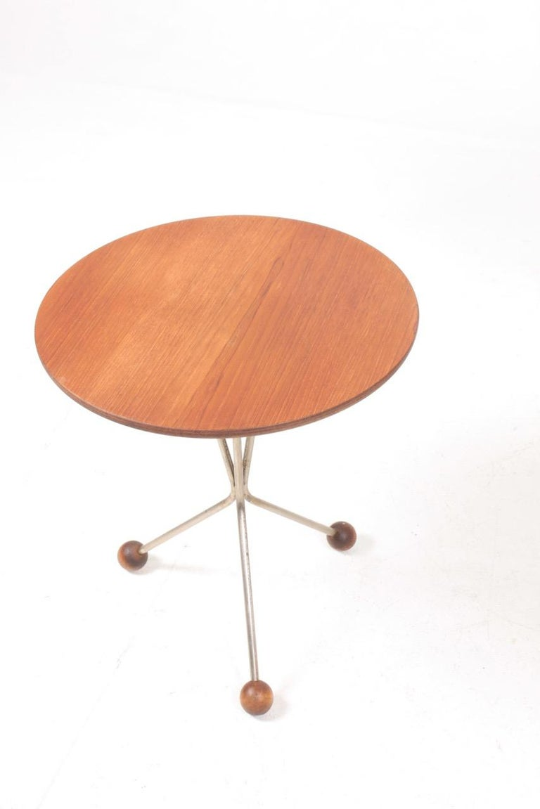 Two  Midcentury Side Tables in Teak by Albert Larsson, 1960s In Good Condition In Lejre, DK