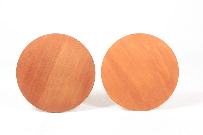 Mid-20th Century Two  Midcentury Side Tables in Teak by Albert Larsson, 1960s