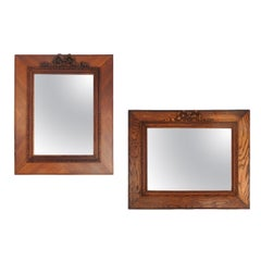 Two Mirror or Picture Frames French Provincial 19th Century Louis XVI Rev