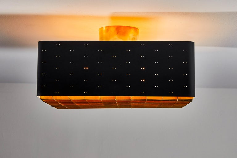 Finnish Single Model 9068 Flush Mount Ceiling Light by Paavo Tynell for Taito Oy For Sale