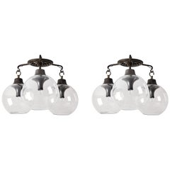 "Two Model LS10 ""Grappolo"" Ceiling Lights by Caccia Dominioni for Azucena"