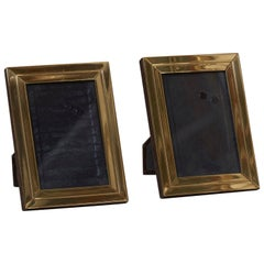 Two Modernist Brass Picture Photo Frames Attributed to Willy Rizzo