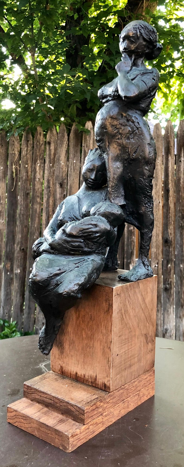 Provenance: from a Palm Beach estate Bronze sculpture on wooden base measuring 20.5