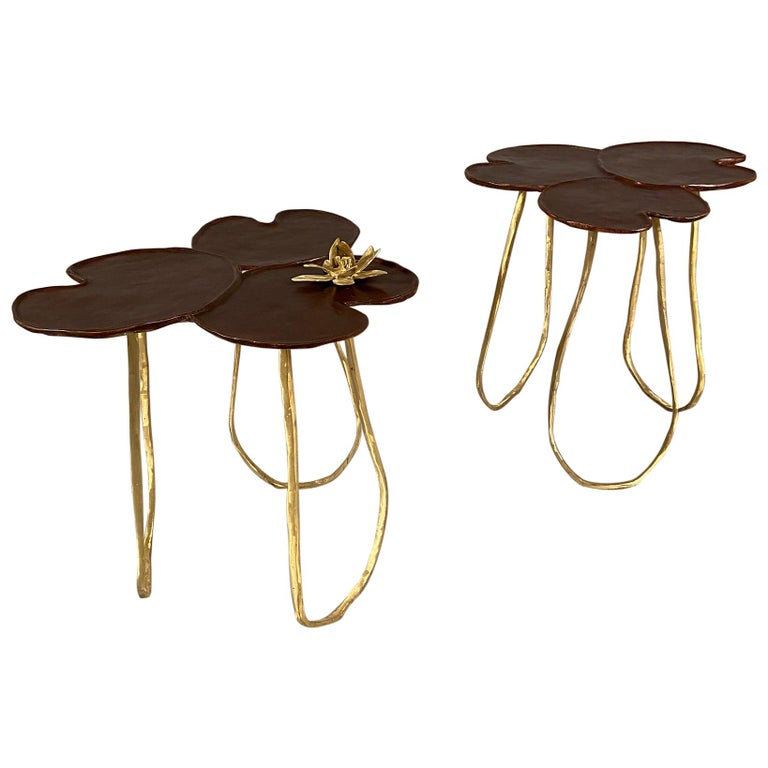 """Two """"Nénuphar"""" Side Tables """"Available for Custom Commissions  For Sale"""