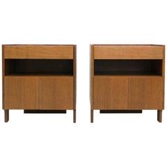 Two Nightstands by Franco Albini, Model 'CD 31', Walnut, 1963