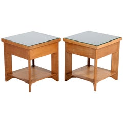 Two Oak Art Deco Haagse School Coffee Tables by Henk Wouda for Pander, 1924