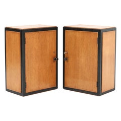 Two Oak Art Deco Haagse School Wall Cabinets, 1920s