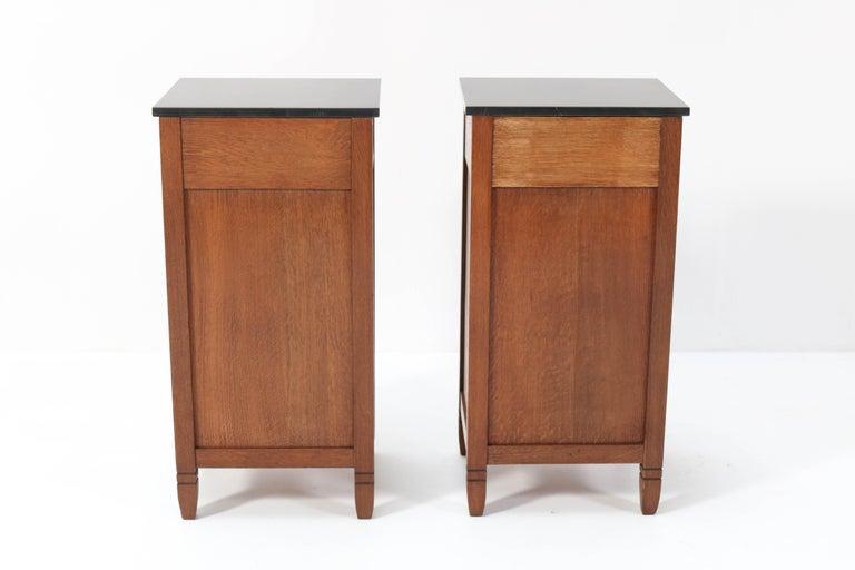 Two Oak Arts & Crafts Art Nouveau Nightstands by H. Pander & Zonen, 1900s 4