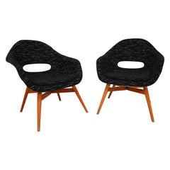 Two Original Easy Chairs by Miroslav Navratil, circa 1960