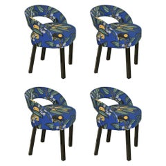 Two Original J.Hoffmann/Oswald Haerdtl Chairs/ Art Deco, New Fabric, Josef Frank
