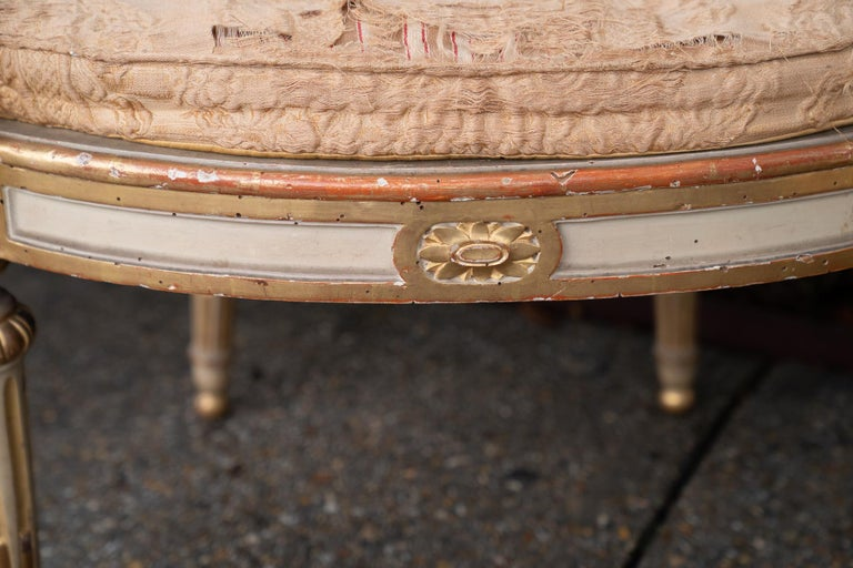Two Pairs of 19th Century Gilded and Painted Armchairs  In Good Condition For Sale In New Orleans, LA