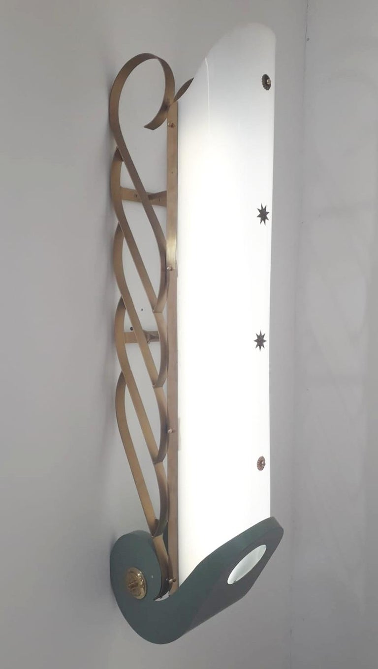 Mid-Century Modern Pair of Cinema Sconces - 2 pairs available For Sale