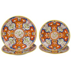 Two Pairs of Dollar Pattern Plates Spode Made in England, circa 1820