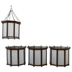 Two Pairs of English Antique Lanterns, Ceiling or Wall Lights