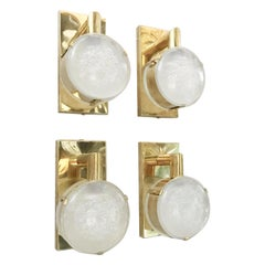 Two Pairs of Lens Sconces by Fabio Ltd