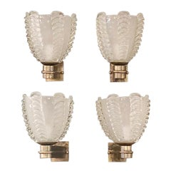 Two Pairs of Murano Sconces by Barovier e Toso