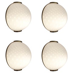 Two Pairs of Murano Sconces / Flush Mounts