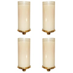Two Pairs of Pink Tube Sconces by Venini
