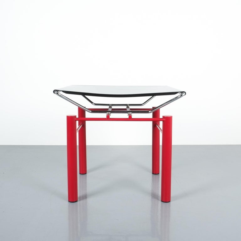 Two Pairs of Red Hans Ullrich Bitsch Chairs Series 8600 For Sale 6